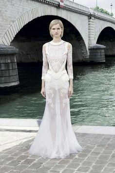 White couture dress