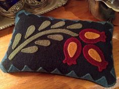 Pomegranate Pincushion by The Quilted Crow Girls