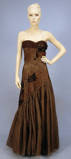 Jacques Heim, Sequined tulle evening gown.  1950s. LOT 911 - whitakerauction