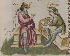 Thomasin <Circlaere>   Welscher Gast (a) Schwaben, um 1460-1470 Cod. Pal. germ. 320 Folio 23r