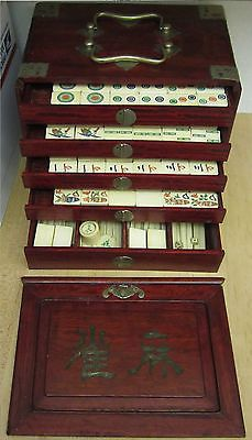 Vintage-Antique-Bone-Mah-Jong-Chinese-Set-Mah-Jongg-Trays-Booklet-Set-Cases went for $799