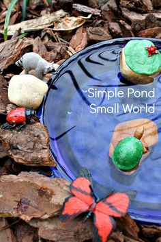 Simple Pond Small World Sensory Play. Repinned by Apraxiakidslearning