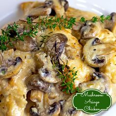 Mushroom Asiago Chicken #MushroomAsiagoChickenRecipe