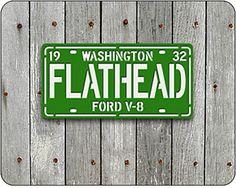 FLATHEAD License Plate Sign