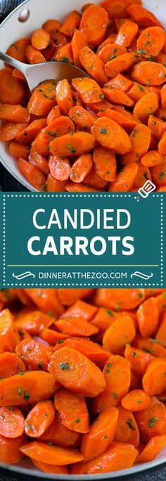 These candied carrots are sliced carrots in a brown sugar and butter glaze that are simmered until tender. It's a super easy side dish that's perfect for a weeknight dinner or a holiday meal! Carrots Side Dish, Cooked Carrots, Crockpot Carrots, Veggie Dishes, Food Dishes, Carrot Dishes, Fall Vegetable Side Dishes, Christmas Vegetable Dishes, Vegetable Sides
