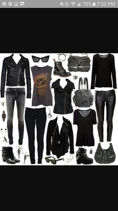 Perfect rocker mom winter capsule wardrobe love it