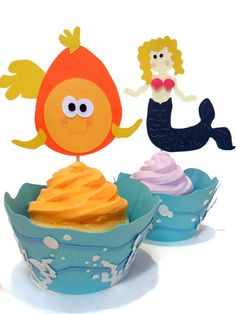 Cupcake Wrappers Under the Sea Wrappers