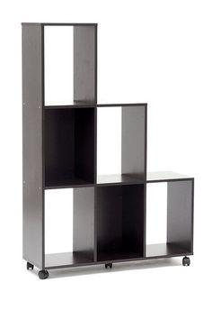 Hexham Rolling Display Shelving Unit - Dark Brown by W.I. Modern Furniture on @HauteLook