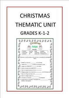 Christmas Thematic Unit (Primary) for Very Busy Teachers  http://www.teacherspayteachers.com/Product/Christmas-Thematic-Unit-Primary-for-Very-Busy-Teachers-314215