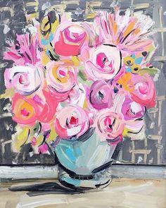 Resumen de rosas  Colores rosas claros y oscuros sobre un fondo gris neutro. Muy nervioso y el resumen.  Sólo debes elegir el tamaño en el menú desplegable de mano derecha. Estas impresiones son en papel mate pesado Premium, hermoso y vibrantes tintas. Usted será feliz.  Marca de agua no aparecerá en tu impresión.  Todas las impresiones de papel son en papel mate pesado con tintas de calidad archivo, el 16 x 20 lienzo tiene 1 los lados que son la misma Marina de guerra como parte superior…