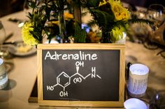Molecule Themed Wedding Reception Table Names