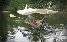 Double decker hammock boat The only thing missing is the cooler. Tell me this doesn't look ...