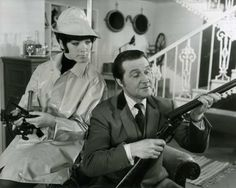 Tara King (Linda Thorson) & John Steed (Patrick Macnee) in the Avengers episode 'Take-Over'