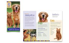Dog Kennel and Pet Day Care Brochure Design Template by StockLayouts