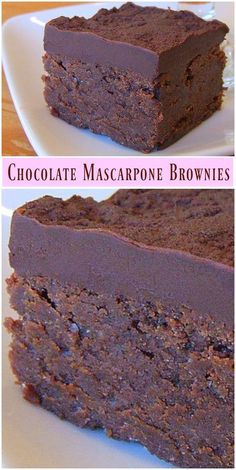 Chocolate Mascarpone Brownies recipe from RecipeGirl.com #chocolate #mascarpone #brownie #brownies #recipe #RecipeGirl