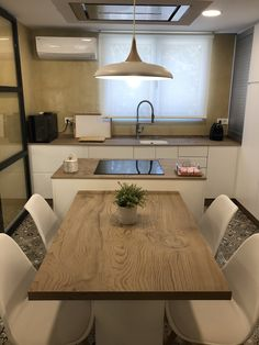 Kitchen Room Design, Modern Kitchen Design, Dining Room Design, Home Decor Kitchen, Interior Design Kitchen, Small Modern Kitchens, Modern Kitchen Interiors, Kitchen Island Table, Inspire Me Home Decor