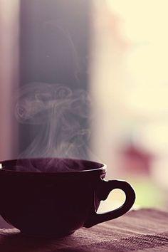Tea. Morning light. Steam. Fall.