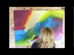 ▶ Abstract Art by Jessica Willows painted to The Sea by Morcheeba - YouTube