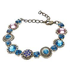 Vintage Colored Gems con incrustaciones de diamantes pulsera – CLP $ 3.486