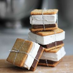 S'mores packaged up like presents.
