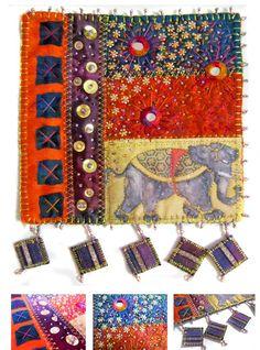 On A Starry Night In India Mini Art Quilt eProject $12.00 | Linda Matthews: Digital Studio