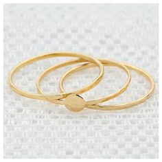 Gold Stackable ring set knuckle dainty thin ring 3 gold rings delicate gold filled jewelry