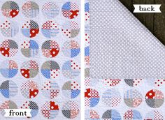 baby quilt {red, blue & gray} » The Macs