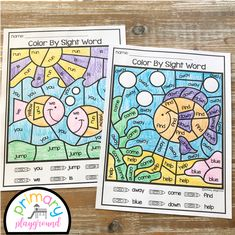Free Printable Color By Code Sight Words - Primary Playground Sight Words Printables, Dolch Sight Words, Sight Word Worksheets, Sight Word Activities, Motor Activities, Principal Appreciation, Ocean Words, Sight Word Coloring, English Projects