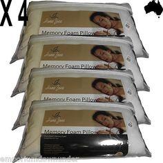 Memory foam pillows X 4  christmas gifts   emporiumdownunder  http://r.ebay.com/qzAQpo
