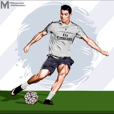 Ultras OG Ronaldo Caricature Soccer V-neck T-shirt