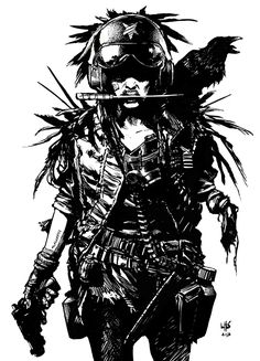 Post apocalyptic one armed woman by ~bumhand on deviantART