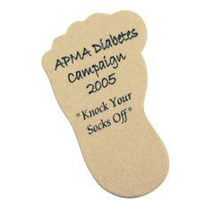 Foot Shape Emery Board - Foot shaped emery board.