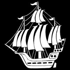 tall ship silhouette