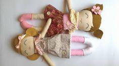 Tiny Flowers Dolls, bambole di pezza fatte con cuore