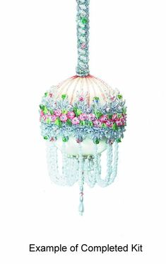 beaded ornaments kits for sale | Beaded Satin Christmas Ornaments