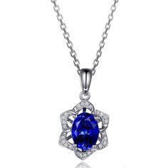 Beautiful 1.74ct Natural Blue Tanzanite in 18K Gold Pendant by CHARMES Jewellery