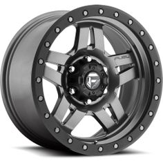 Off-Road Anza Wheel for Jeep Wrangler YJ, TJ, amp; Cherokee XJ Fuel Off-Road Anza Gray Alloy Wheel with Bolt Pattern in Size amp; Chrome Wheels, Black Wheels, Black Rims, Matte Black, Rims And Tires, Wheels And Tires, Car Wheels, Fuel Rims, Federal