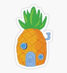 """Spongebob Pineapple"" Stickers by srucci Stickers Cool, Preppy Stickers, Cute Laptop Stickers, Meme Stickers, Cartoon Stickers, Tumblr Stickers, Phone Stickers, Printable Stickers, Spongebob"