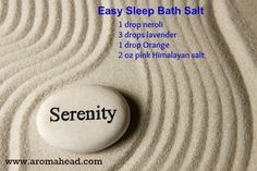 We all love to sleep well. This bath salts recipe can really help! It's one of my favorite essential oil recipes for sleep. Now Essential Oils, Essential Oil Uses, Young Living Essential Oils, Bath Salts Recipe, Oils For Sleep, Young Living Oils, Diy Beauty, Bath And Body, Essentials