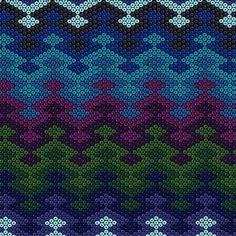 DC5784 blanket chevron mark hordyszynski beadwork southwest ethnic jewel multi beads.    These are beads, but I think this would make a wonderful hexagon quilt design!