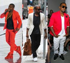 Kanye in red