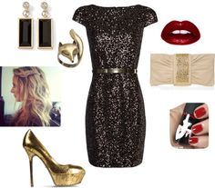 """""""Christmas Company Party"""" by shelleystovall on Polyvore"""