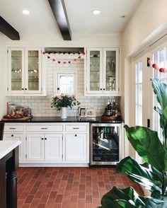 Terracotta floor kitchen