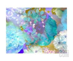 Poeny Abstract Blue Photographic Print by Alaya Gadeh at Art.co.uk