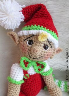 Hey, I found this really awesome Etsy listing at https://www.etsy.com/listing/170712031/crochet-pattern-cute-elf-by-teri-crews