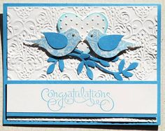 Bird Builder Wedding Card by LAM Creations - Cards and Paper Crafts at Splitcoaststampers