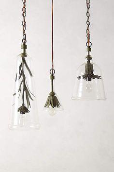 Thank you Robert Ogden, simply beautiful design reminiscent of spring. Iron Petals Pendant Lamp - anthropologie.com