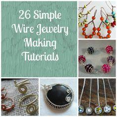 26 Simple Wire Jewelry Making Tutorials