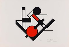 """Erich Buchholz [Germany] (1891-1972) ~ """"Untitled"""", 1921. Screenprint on paper (42.8 x 62 cm). 