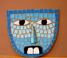 Aztec masks out of cardboard and construction paper